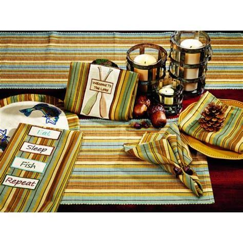 cordwood placemat    long table runner table
