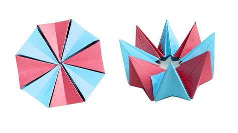 Circle Origami Paper - how to make an origami fireworks easy origami magic