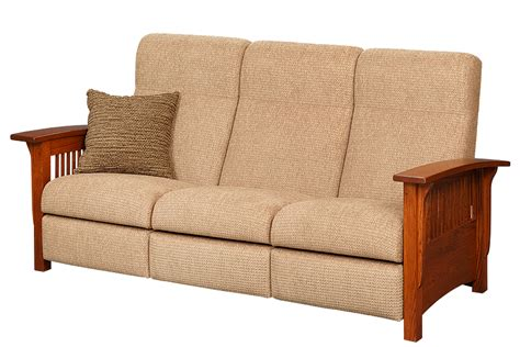 Mission Sectional Sofa by Mission Style Reclining Sofa Town Country Furniture