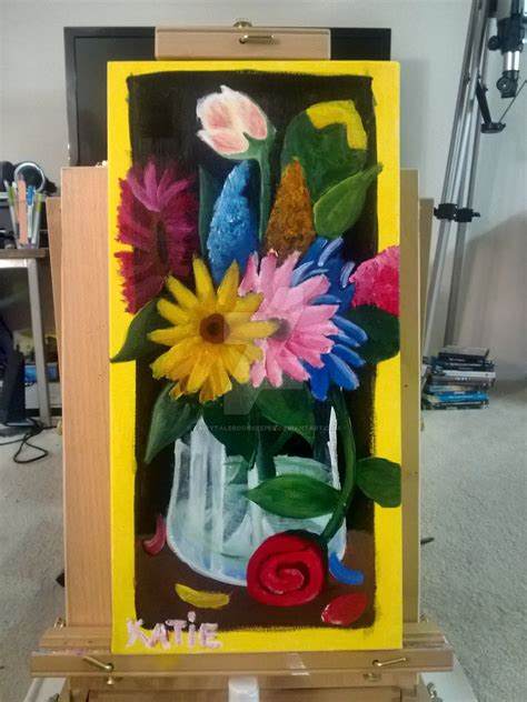 painting acrylic flowers a z acrylic flowers by fairytalebookkeeper on deviantart