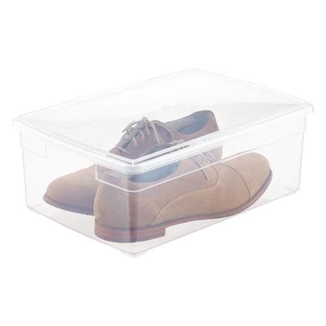mens shoe box storage our s shoe box the container store