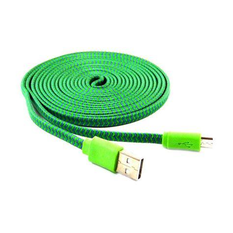 Kabel Data Tali Sepatu jual rotamart tali sepatu hijau kabel data 3 m harga kualitas terjamin blibli