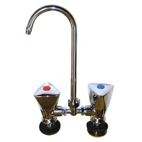 Hot and Cold Mixer Faucet Chrome with Folding/Swivel Spout
