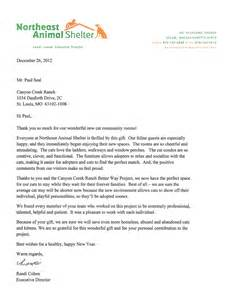 Fundraising Letter For Animal Shelter In Donation Letter Crna Cover Letter
