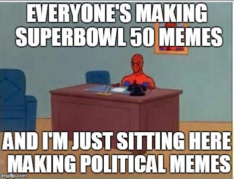 Sitting Here Meme - spiderman computer desk meme imgflip