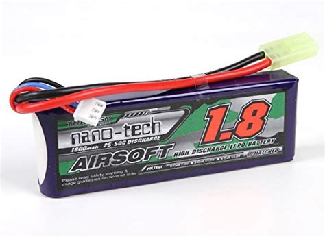 Battery Turnigy Nano Tech 1800mah 3s 25 50c Pecah 1 103x20x35mm turnigy nano tech 1800mah 2s 25 50c lipo airsoft pack rcrotors