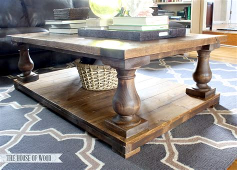 coffee table diy plans diy balustrade coffee table plans from white house of