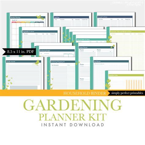 printable grow journal printable planner kit gardening journal
