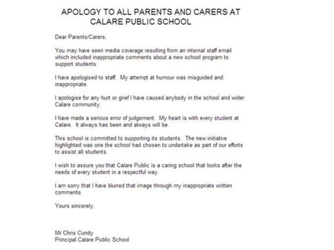 Commitment Letter To Principal Mental Health Days Are For Morons Says Calare School Principal Christian Cundy