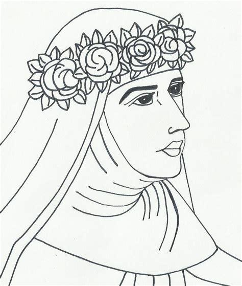 imagenes para colorear a santa rosa de lima imagenes y dibujos para colorear dibujos santa rosa de