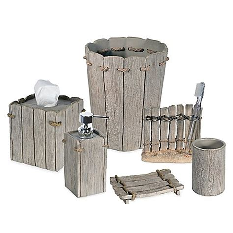 Driftwood Bathroom Accessories Destinations Driftwood Bath Ensemble Bed Bath Beyond