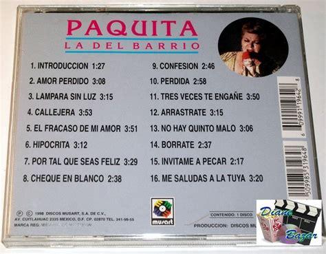 Cd Paquita cd paquita la barrio en vivo desde su lugar lbf