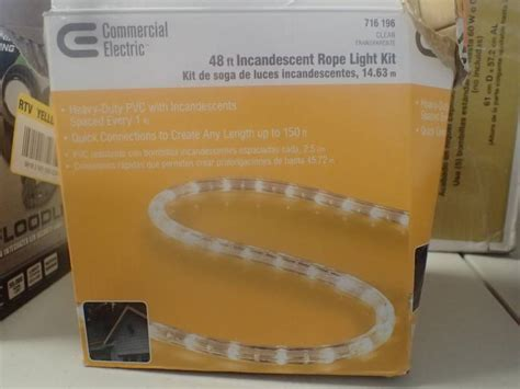 commercial electric 48 ft clear incandescent light kit commercial electric 48 ft clear incandescent light