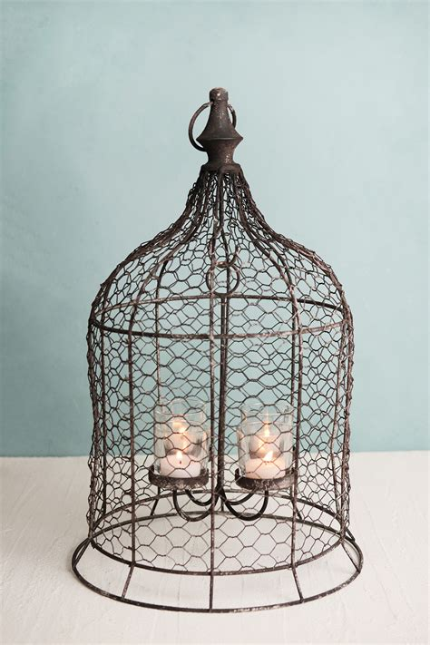 canary hanging votive holder chandelier birdcage