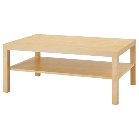 idea coffee table lack coffee table birch effect 118x78 cm ikea