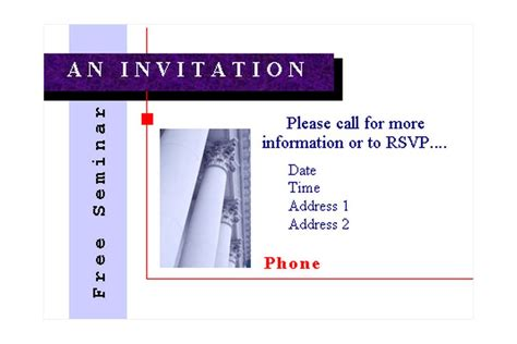 seminar invitation card template seminar invitations seminar invitation template