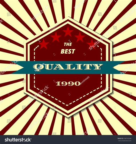 Best Quality Syari Vintage retro vintage style label best quality stock vector 598742048
