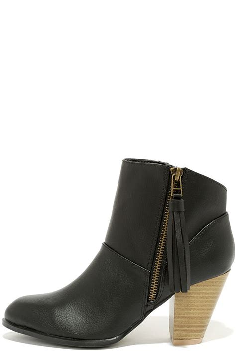 black ankle boots high heel booties ankle boots