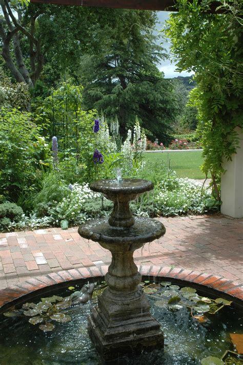 patio fountains garden water exterior design