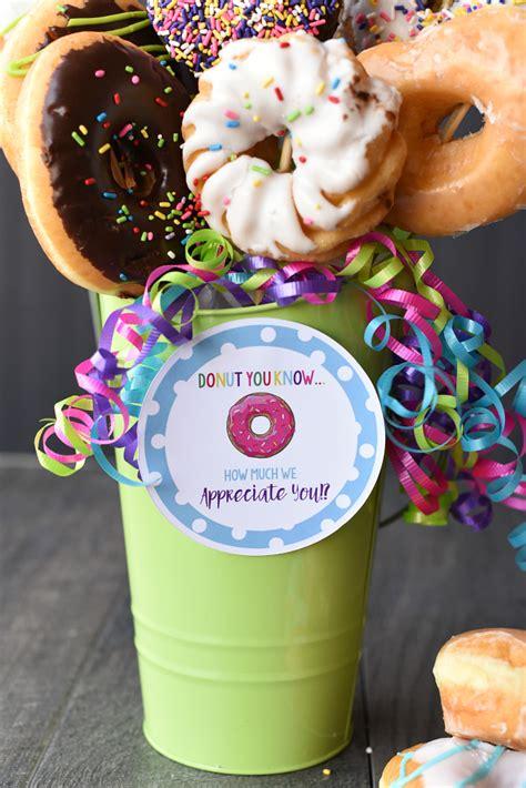 Donut Bouquet  Ee  Gift Ee   Idea Fun Squ D
