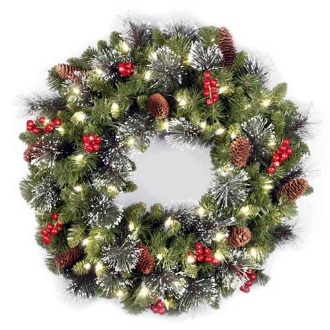 battery operated christmas wreaths