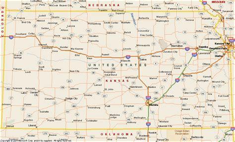 map of kansas kansas map travelsfinders