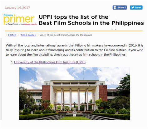 up film institute up film institute upfi tops the list of best film schools