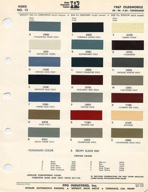 paint code on 1967 cutlass auto paint colors codes paint