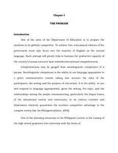 Introduction To Thesis Example Format Thesis