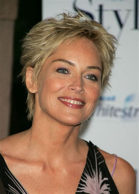 sharon stone new haircut sharon stone pixie haircut