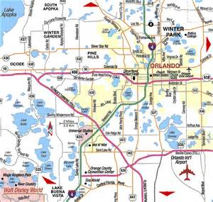 road map of orlando orlando florida aaccessmaps