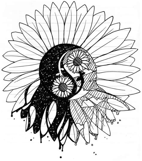 tribal sunflower tattoo my sunflower rd by elusiveconqueror on deviantart
