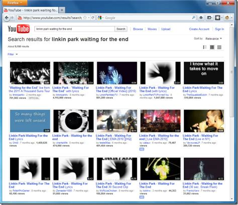 youtube layout grid view youtube search results in grid layout firefox