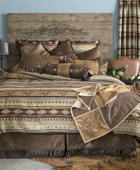 brown lodge brown mustang by carstens lodge bedding