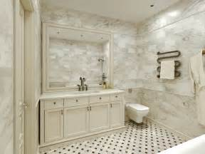 Marble Bathroom Tile Ideas by Carrara Marble Tile White Bathroom Design Ideas Modern