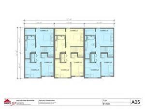 Modern Townhouse Plans multilogement maisons en rang 233 e mod 232 le t3d