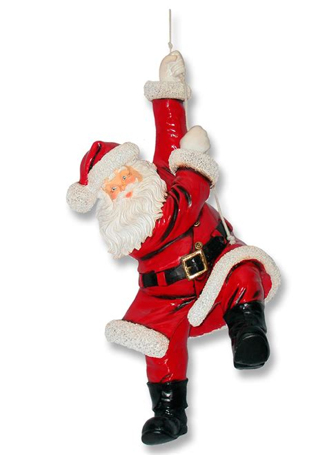 santa hanging on rope christmas decor 3ft