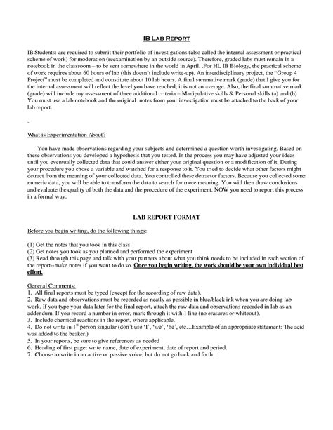 Best Photos Of Lab Report Exle Sle Lab Report Exle Sle Lab Report Exle And Lab Report Template