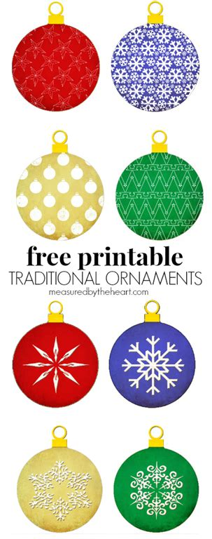 free printable christmas ornaments u create
