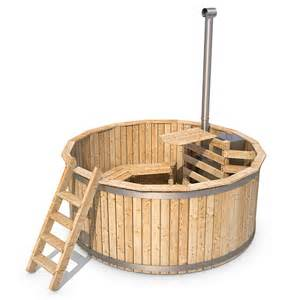 wooden tub outdoor bath barrel garden swimming