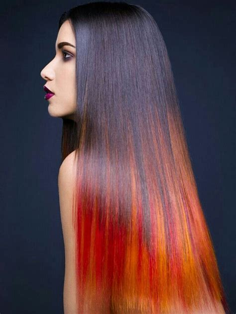 faded colour hairstyles this is gorgeous purple red orange faded hair