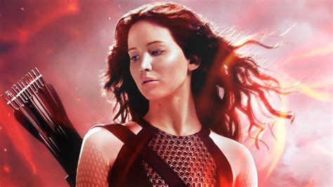 katniss in the hunger games catching fire wallpapers hd