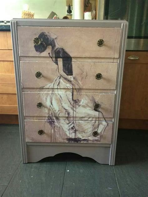 Decoupage Dresser Ideas - 686 best painted furniture images on