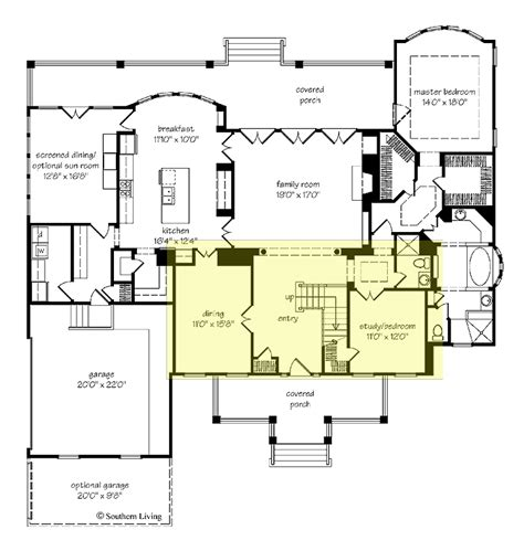 southern house floor plans southern living floor plans for homes