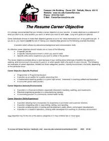 Career Goal Exles For Resume by Career Objective Exles For It Resumes Sles Career Change Sle Career Objective For