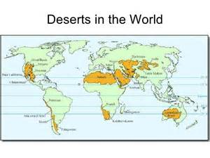 Deserts Of The World Map by Arid Environments