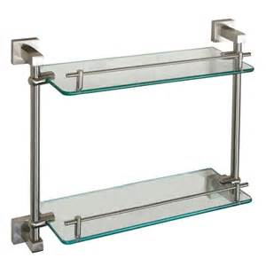 brushed nickel shelves bathrooms jordyn brushed nickel glass shelf barclay products