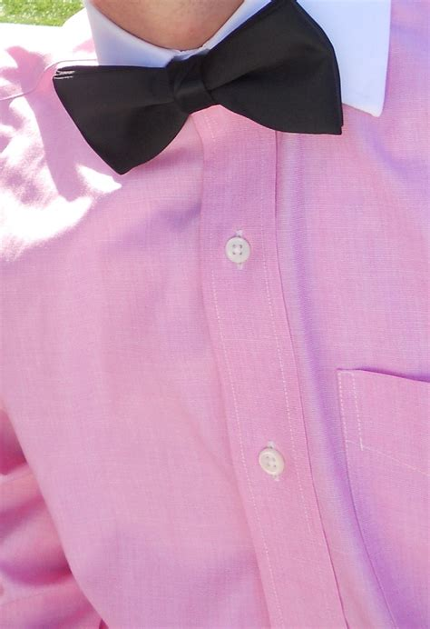 pink shirt bow tie pink for