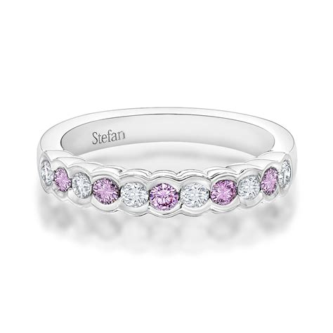 Wedding Bands New by New Pink Wedding Band Stefan Diamonds