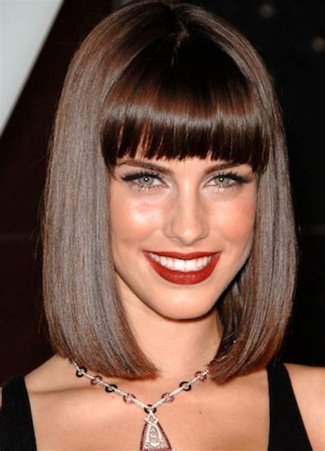 Bob Hairstyles With Long Bangs | 16 long bob haircuts learn haircuts